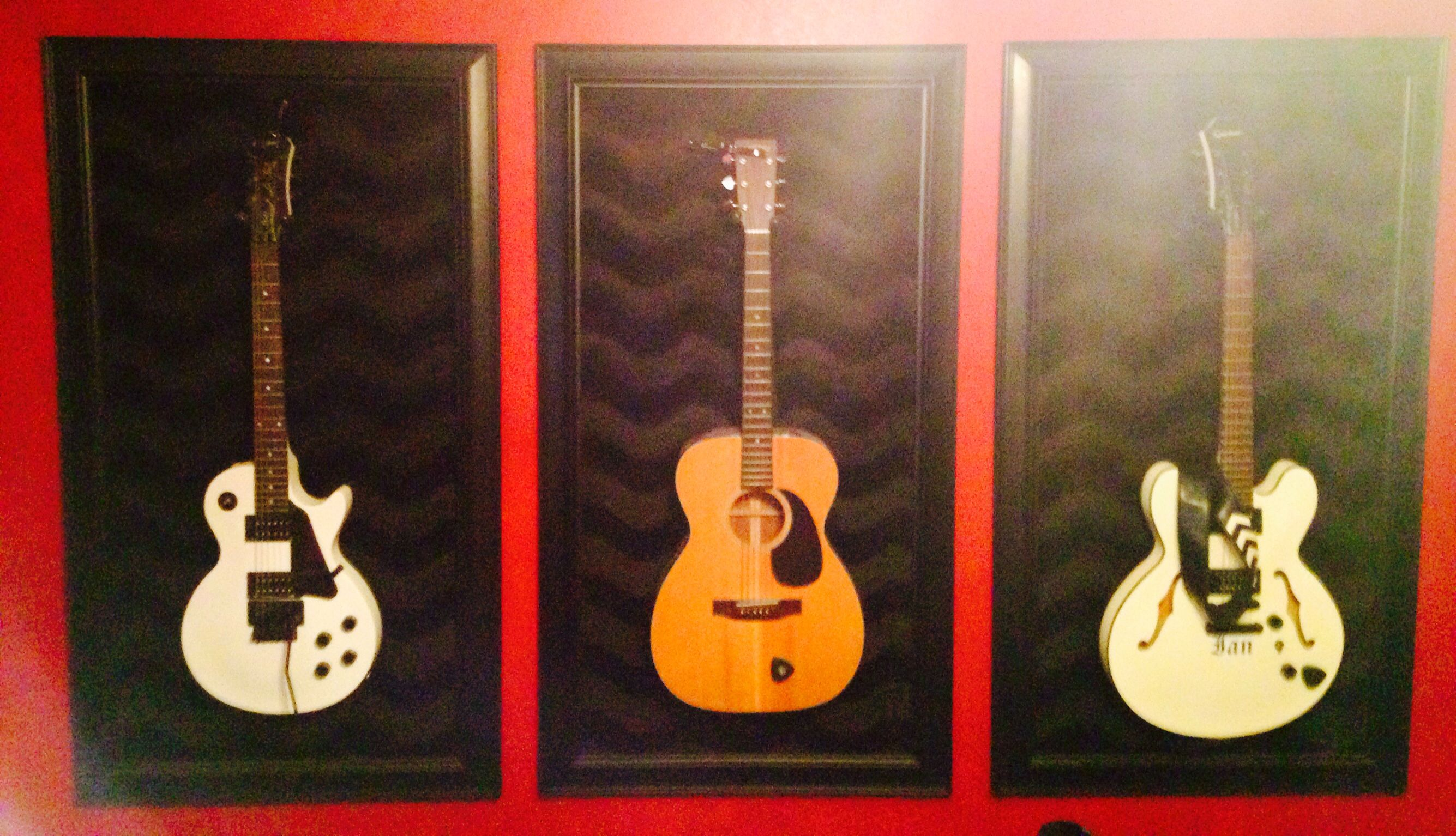 Diy guitar wall picture frame guitar wall guitars music room diy guitar wall picture frame guitar wall guitars music room jeuxipadfo Gallery
