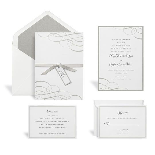 Swirl Silver Wedding Invitation Kit By Celebrate It Wedding Invitation Kits Diy Wedding Invitation Kits Invitation Kits