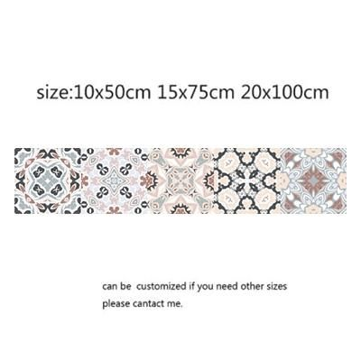 Photo of Arabic Style Mosaic Tile Stickers For Living Room Kitchen Retro 3D Waterproof Mural Decal Bathroom Decor DIY Adhesive Wallpaper – 3 / 15x75cm