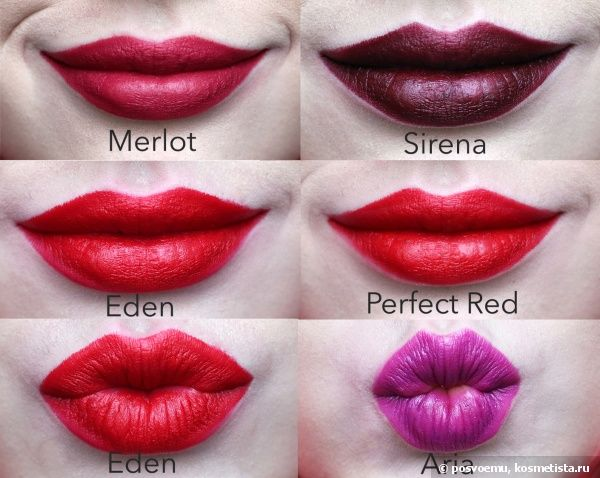 Nyx Matte Lipstick Merlot (Mls16), Perfect RED (Mls10), Eden ...