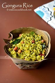 Gongura Pulihora   Spicy Sorrel Leaves Rice