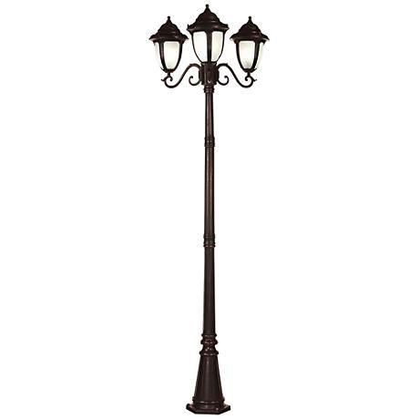 Casa Sorrento Bronze 90 1 2 H 3 Light Post Light 84387 Lamps Plus Post Lights Light Outdoor Post Lights