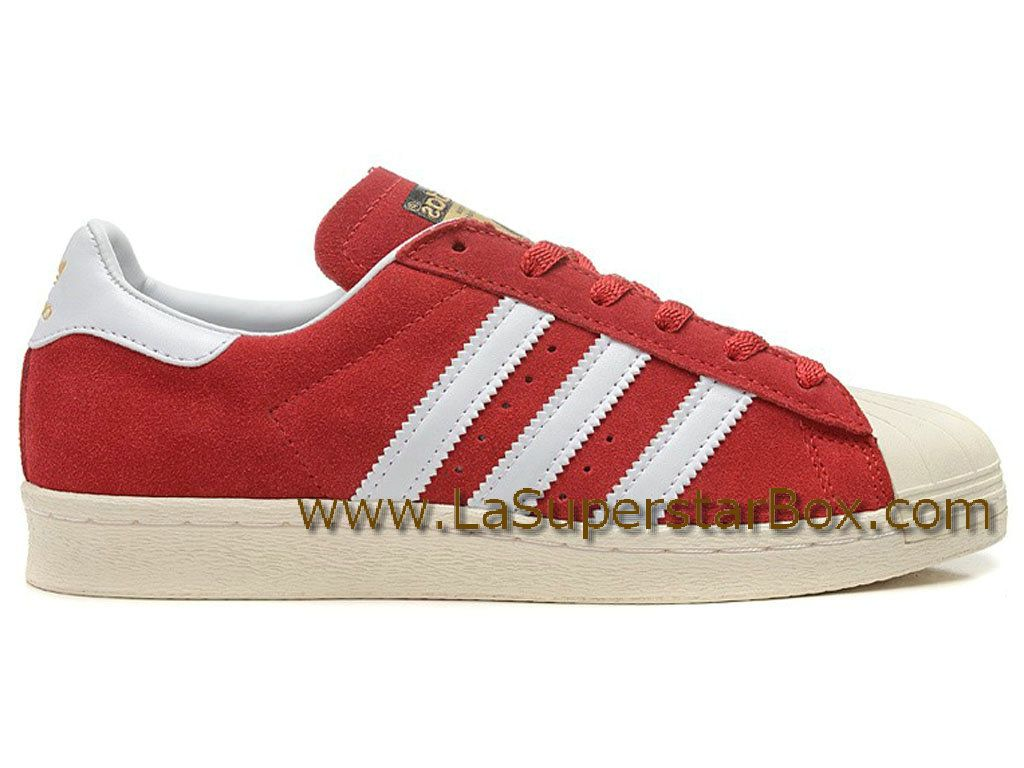 Chaussures Adidas Superstar 80s Dlx Rouge Originals Hommefemme E9H2WDI