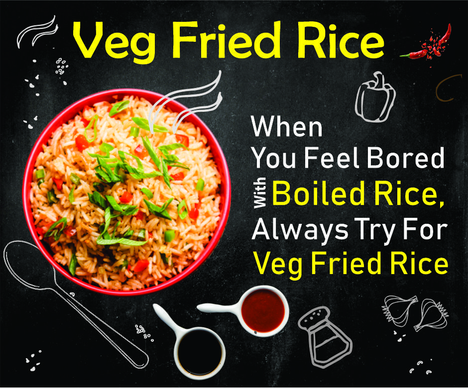 Veg Fried Rice Food Poster Design Food Menu Design Food Advertising