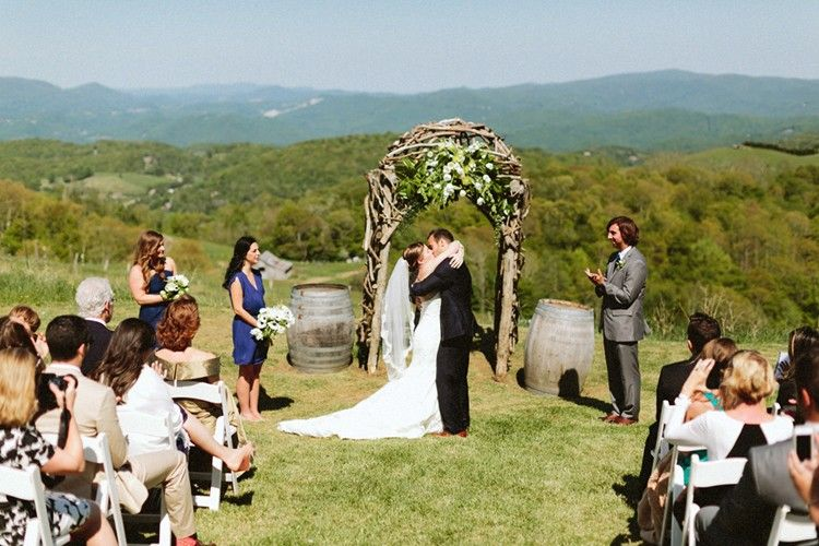 Real Wedding Banner Elk Winery Boone, NC Mountain