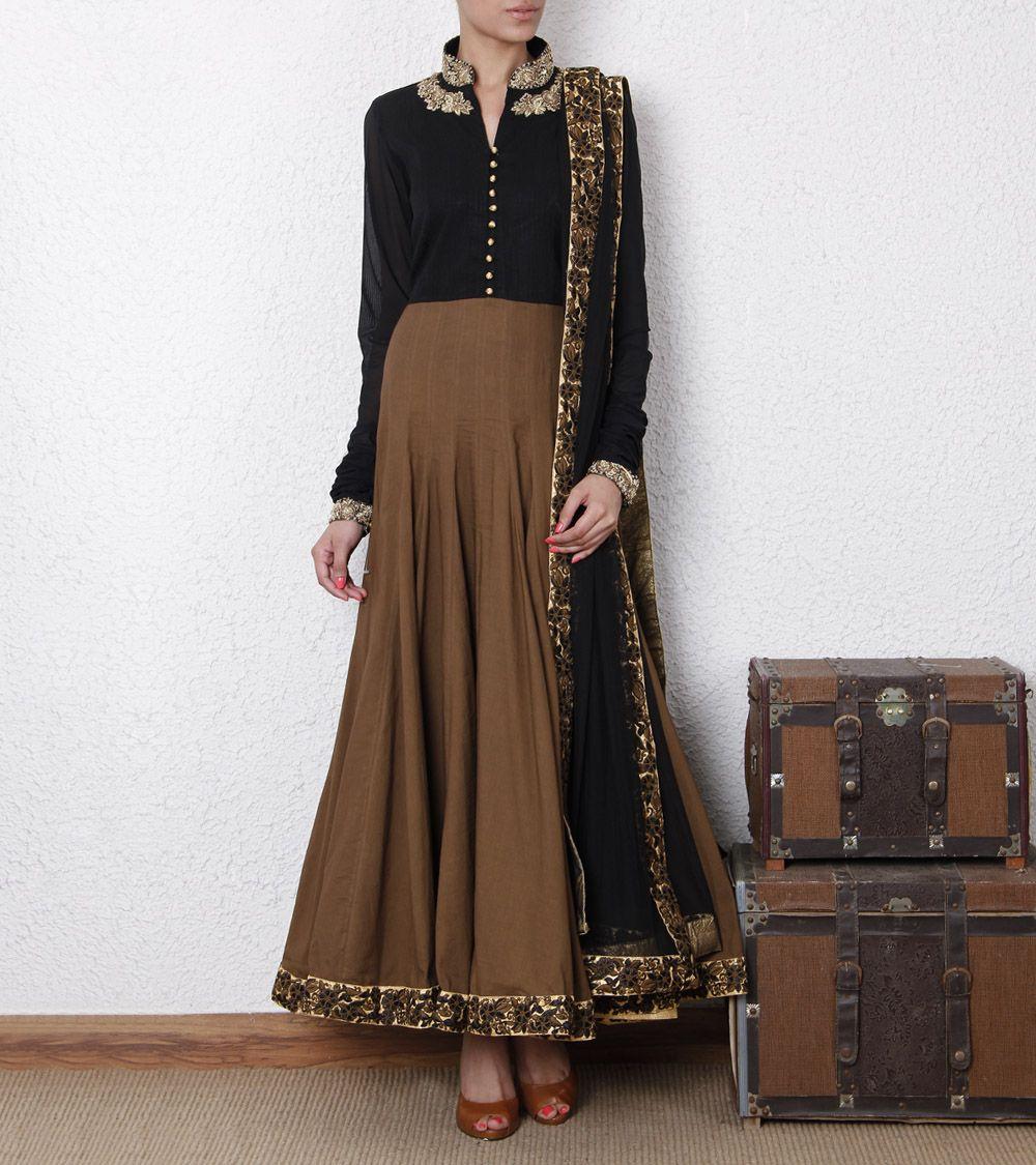 Cotton Anarkali Suit Love This Colour Combination