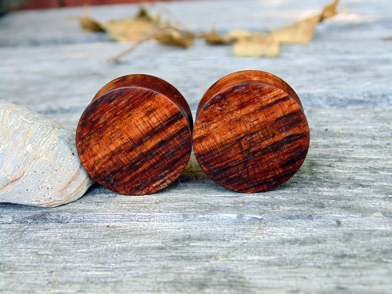 Black or Brown Wood Sold as Pair Earth Accessories Flared Saddle Expander Organic Wood Plug Earrings