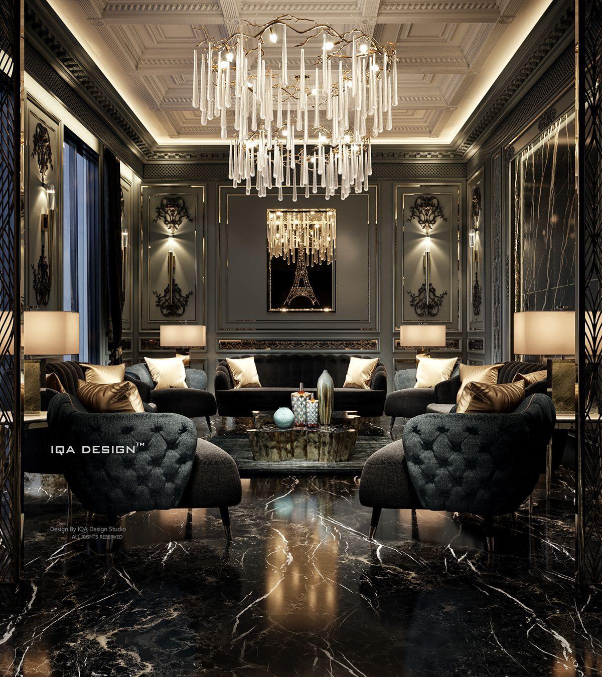 Luxury Living Room Dubai On Behance In 2020 Luxury Living Room Design Luxury Living Room Luxury Rooms