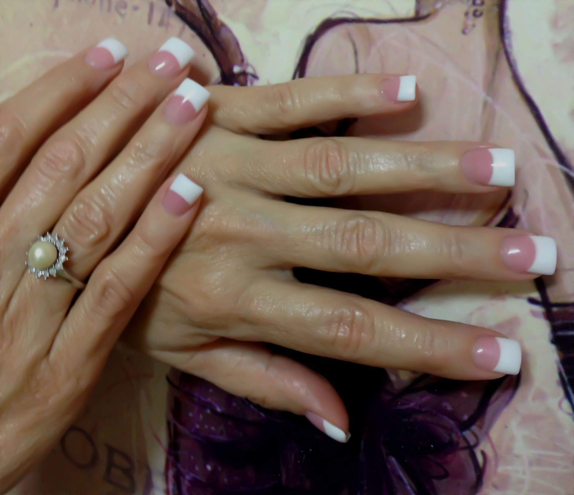 tammy taylor pink & white acrylic nails doneyours truly