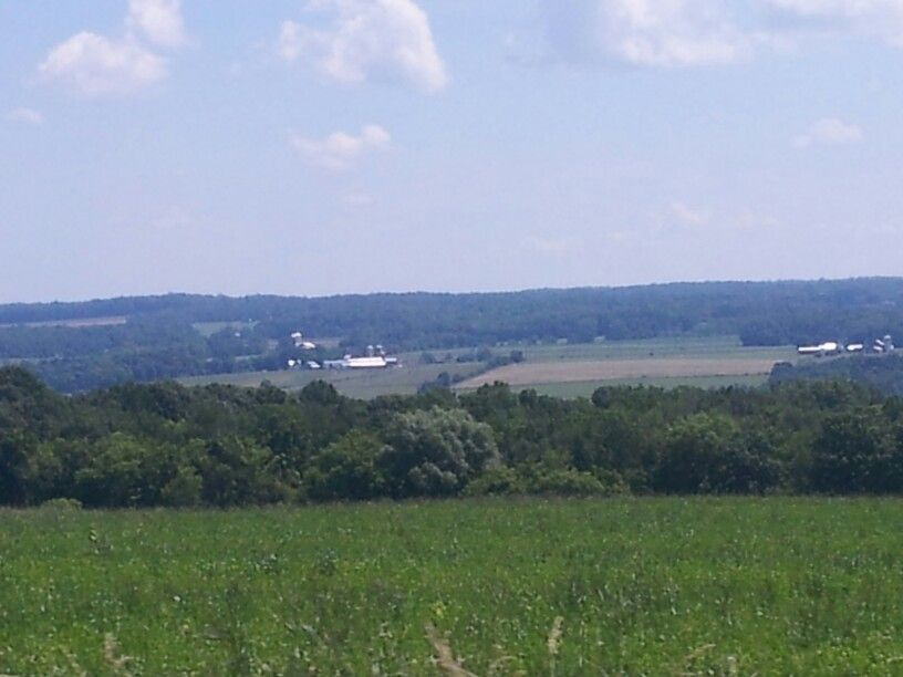 looking over the hills from lansingville road in lansing. ny