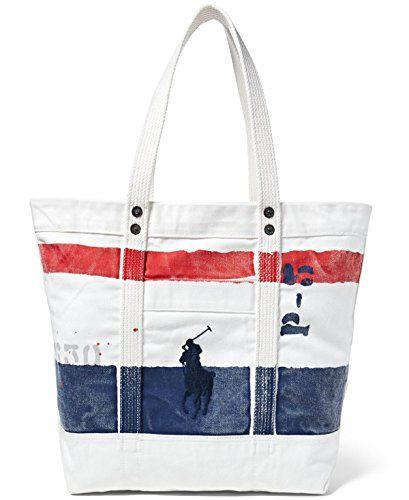 Polo Ralph Lauren Cotton Canvas Big Pony Zip Tote Bag http://women-