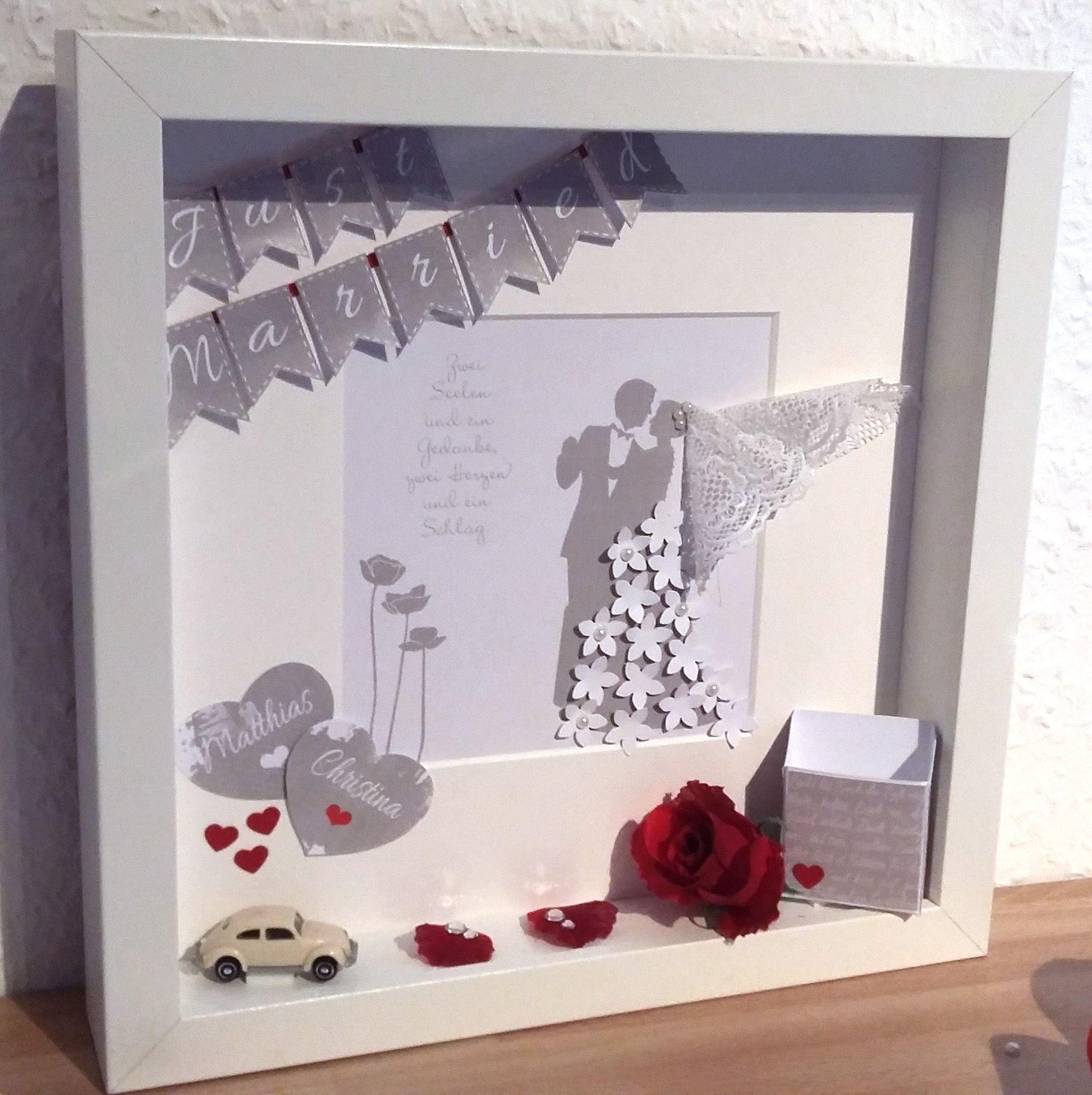 Hochzeitsgeschenk Basteln Bilderrahmen Diy Geldgeschenk Zur