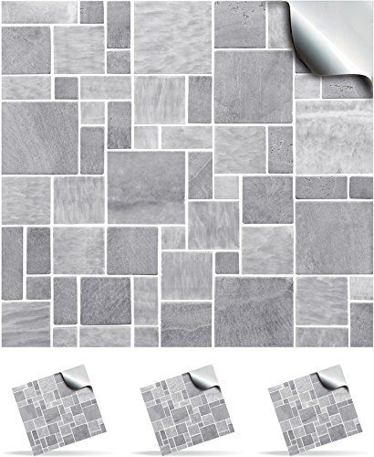 From 9 95 30 Light Grey Self Adhesive Mosaic Wall Tile Decals