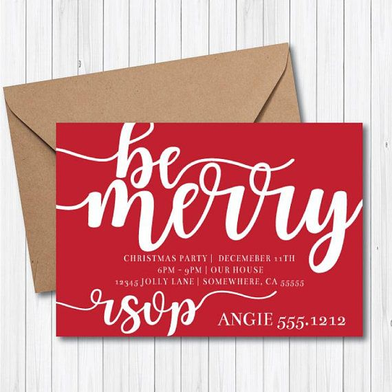 HOLIDAY PARTY INVITATION Christmas Party Work Party Angie Lucia