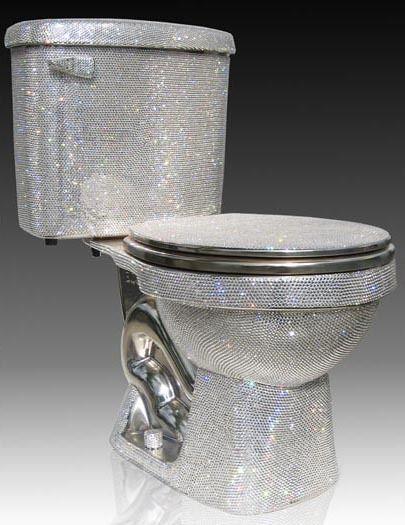 Toilette swarowski kristallen luxus design parkett im bad pinterest badezimmer toiletten - Swarovski badezimmer ...