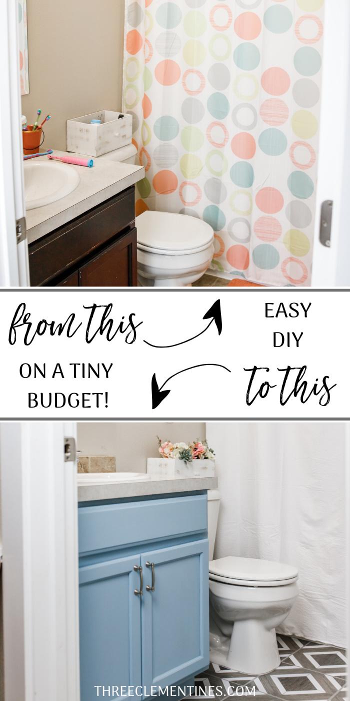 Kids Bathroom Update How To Create A Fresh Inviting Space Three Clementines Bathroom Tile Diy Diy Bathroom Bathroom Wall Tile