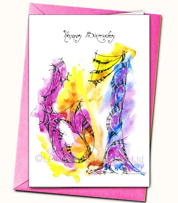 67th Birthday LARGE Greeting card Personalised by LubaFenwickGifts – Large Birthday Cards Personalised