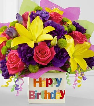 The Happy Birthday Bouquet By FTDR