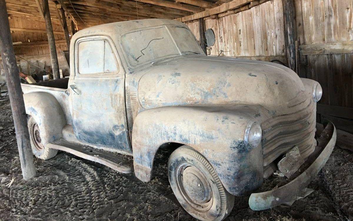 Dandy Dusty Barn Find 1951 Chevrolet Pickup Barnfinds Trucks Usa