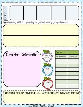 FREE Editable Lesson Plan Template Classroom Pinterest - Fillable lesson plan template