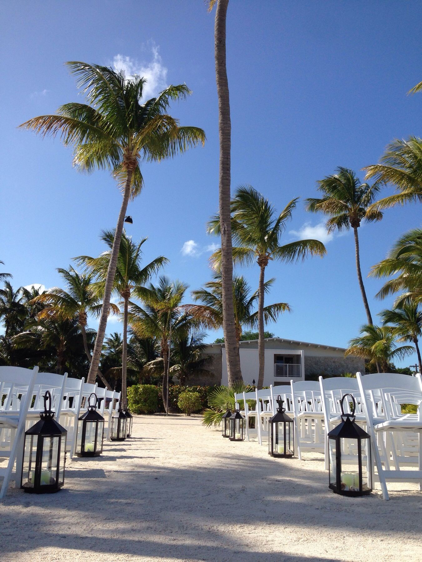 Beach Wedding Setup At Postcard Inn Islamorada FL