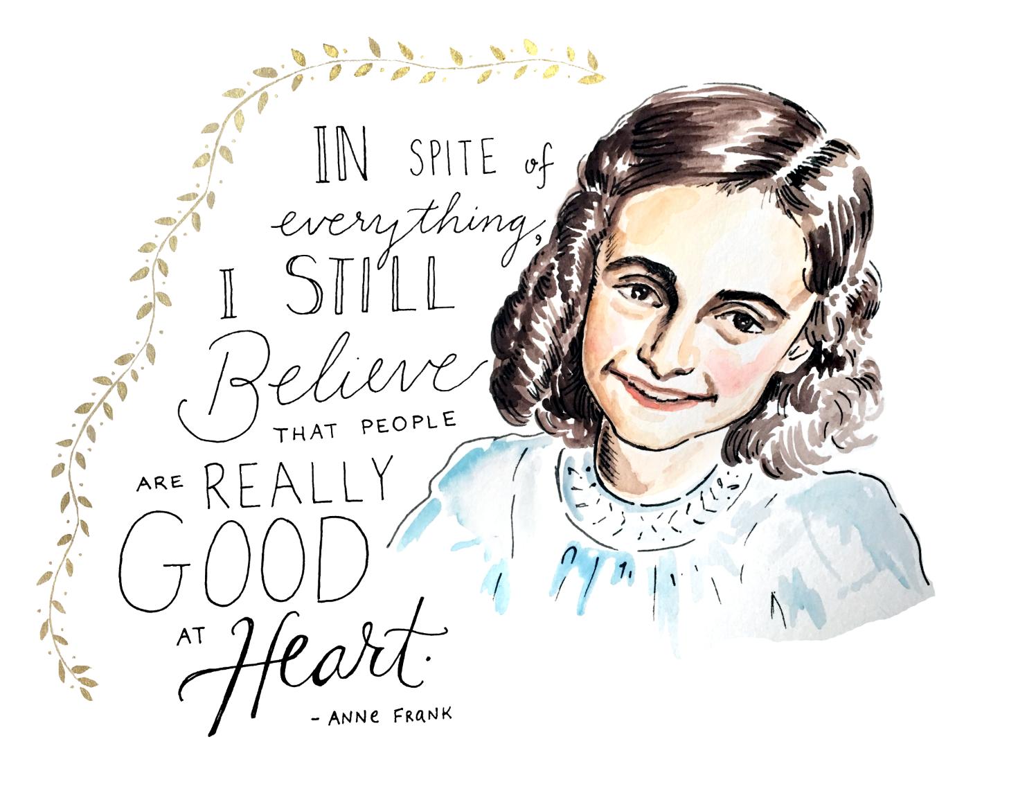 That S What She Said Anne Frank Portrait