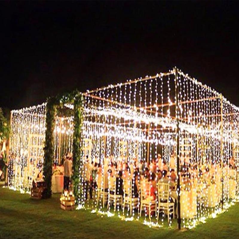 Pin By H Alba On Cena Outdoor Wedding Decorations Wedding Lights Backyard Wedding