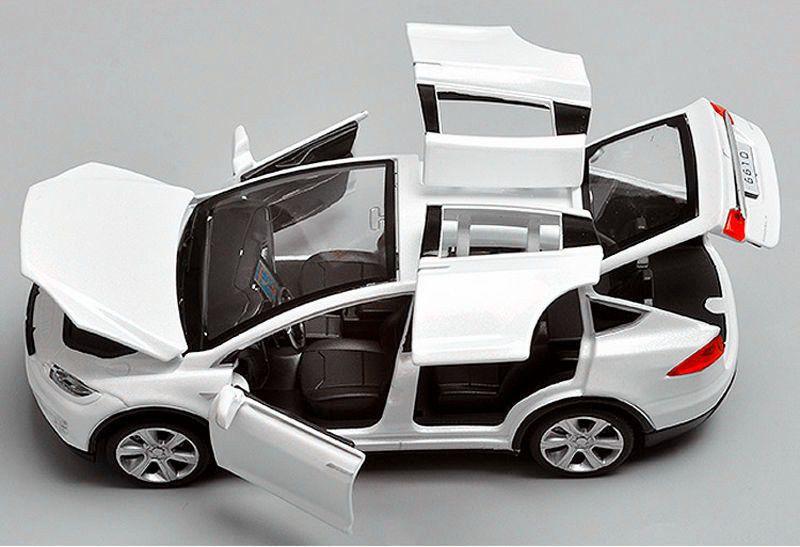 1 32 Tesla Model X 90d Suv Diecast White Model Car Sound Light Pull Back Toy Tesla Model X Tesla Model Tesla Car