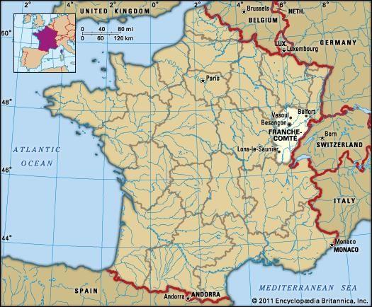 Franche Comte History Culture Geography Map France Map France Ile De France