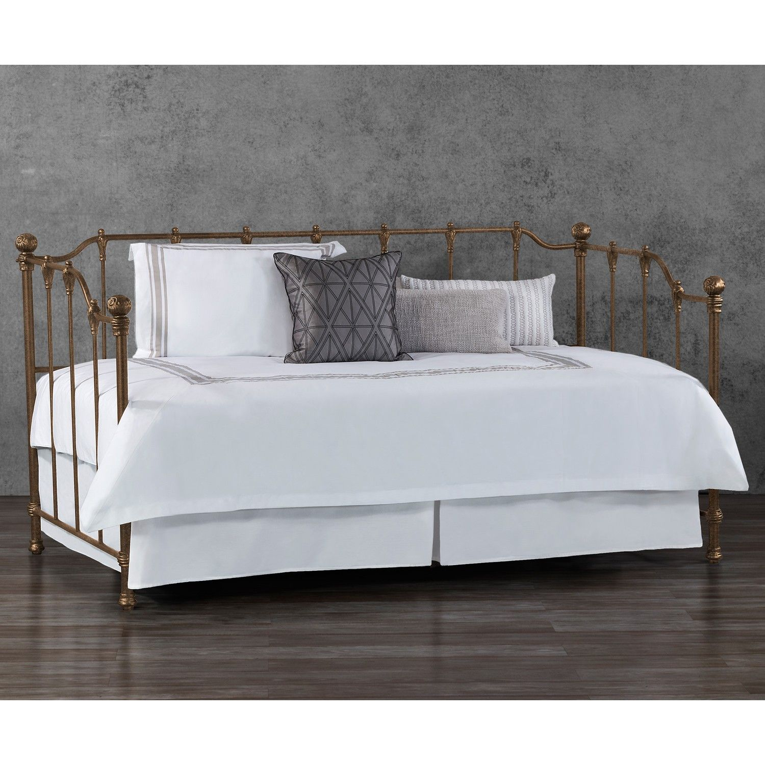 Hannah Iron Daybed by Wesley Allen - Aged Copper Brown | ProDuCTs I ...
