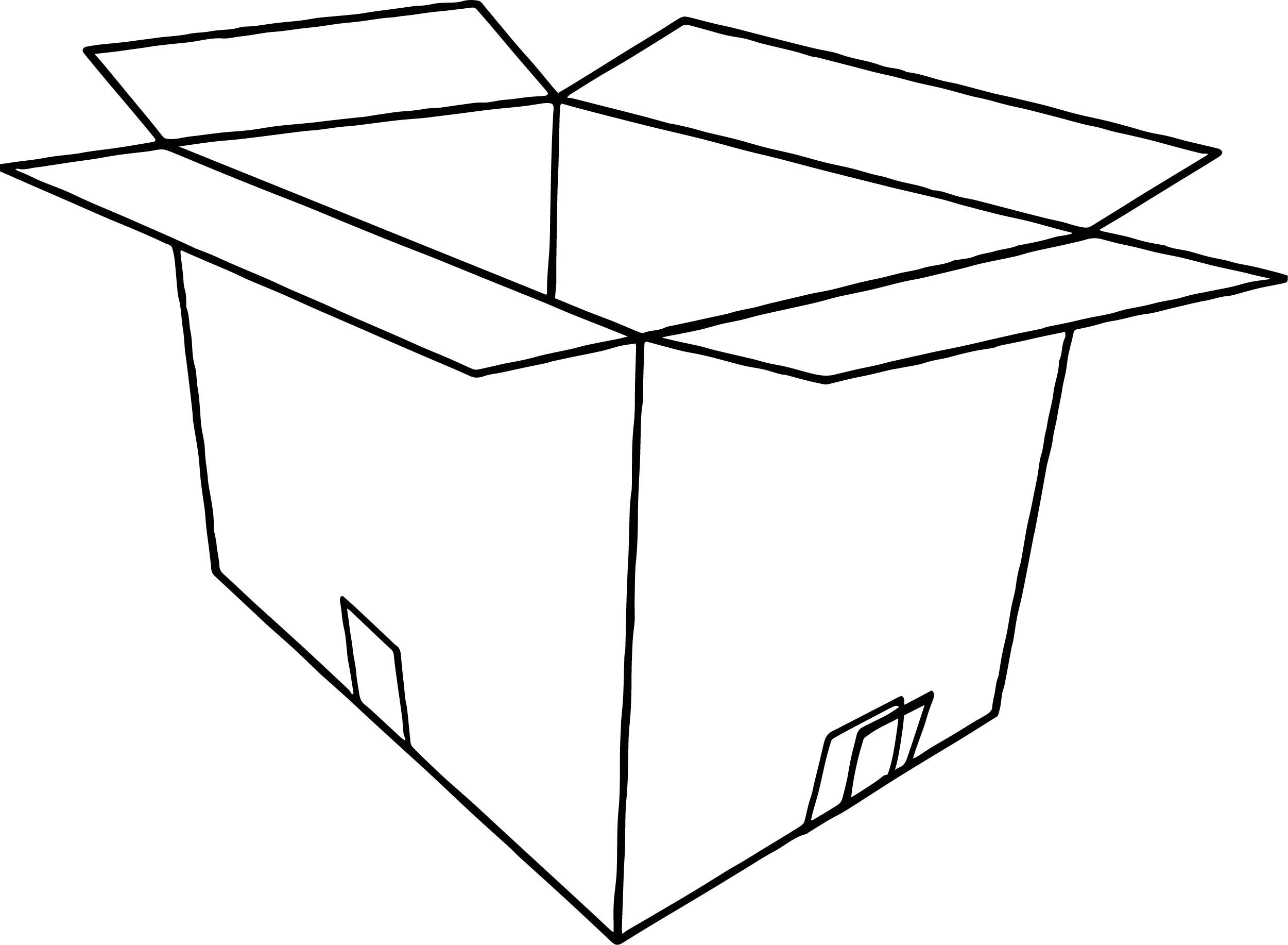 Nice 3d Empty Open Box Coloring Page Coloring Pages Coloring Pages For Boys Color
