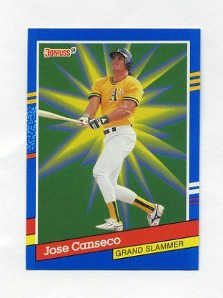 1991 Donruss Baseball Grand Slammers 04 Jose Canseco