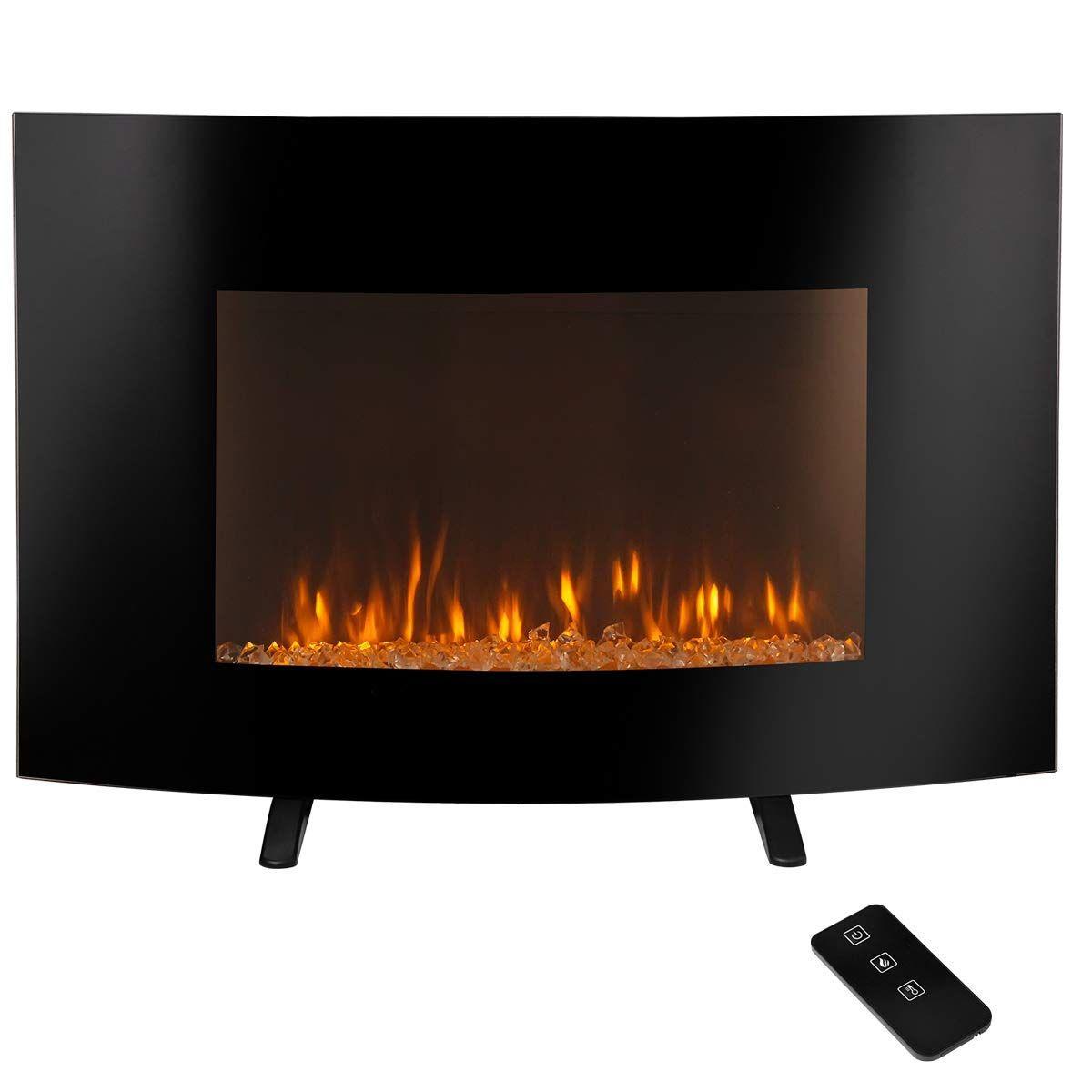 Amazon Com Bhi Electric Fireplace 3 Color Flame Wall Mount