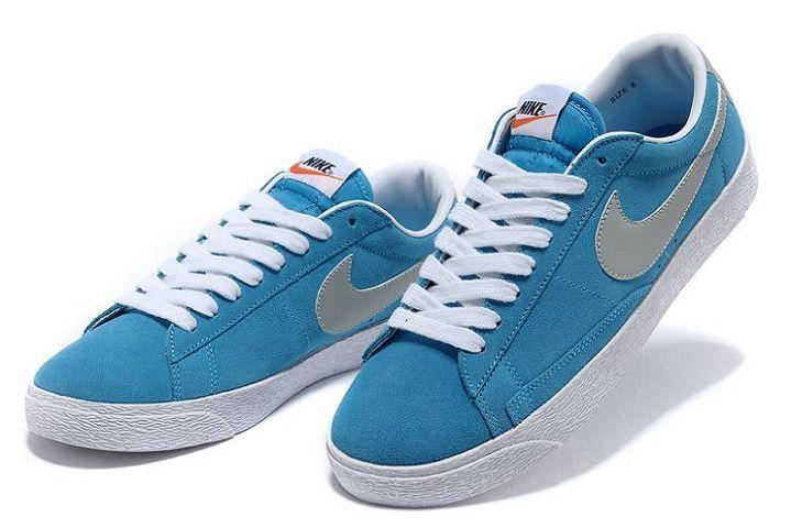 mieux aimé 75ebf 0f48a Nike Blazer Basse Homme Bleu Gris Blanc [x546L] | Basket ...