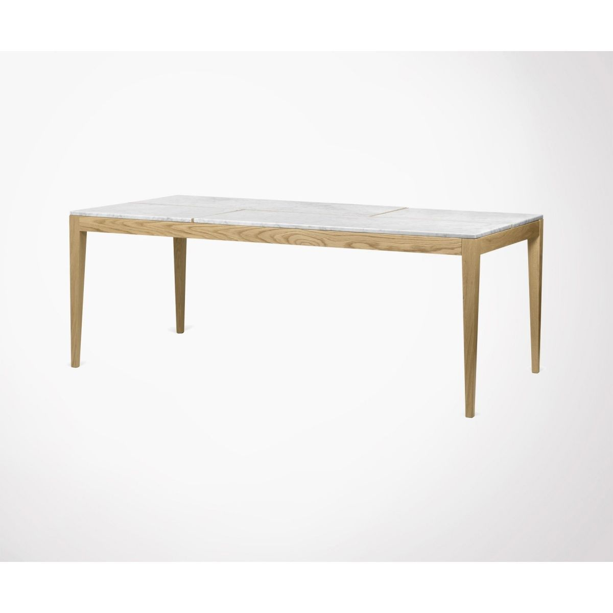 Grande Table A Manger 201cm Marbre Blanc Utile Taille 8 Pers