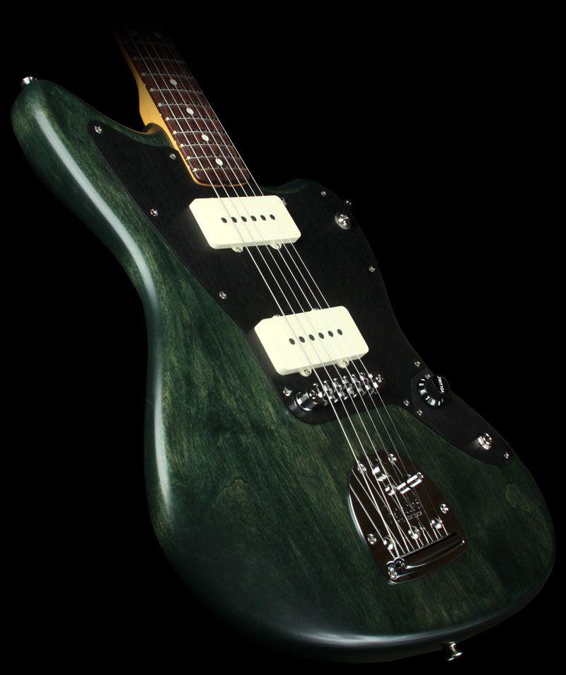 fender artist series thurston moore jazzmaster electric guitar forest green transparent tools. Black Bedroom Furniture Sets. Home Design Ideas
