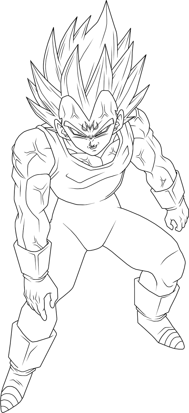 Majin Vegeta Lineart 2 By Brusselthesaiyan On Deviantart Dragon Ball Super Art Dragon Ball Art Dragon Ball Wallpapers