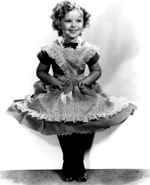 Shirley Temple in costume for The Littlest Rebel, 1935.