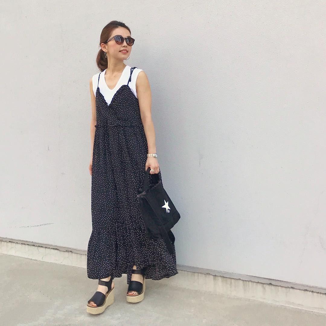 キャミワンピ 大人には似合わない 2019夏の正解 キャミワンピ ファッションコーデ ファッションアイデア
