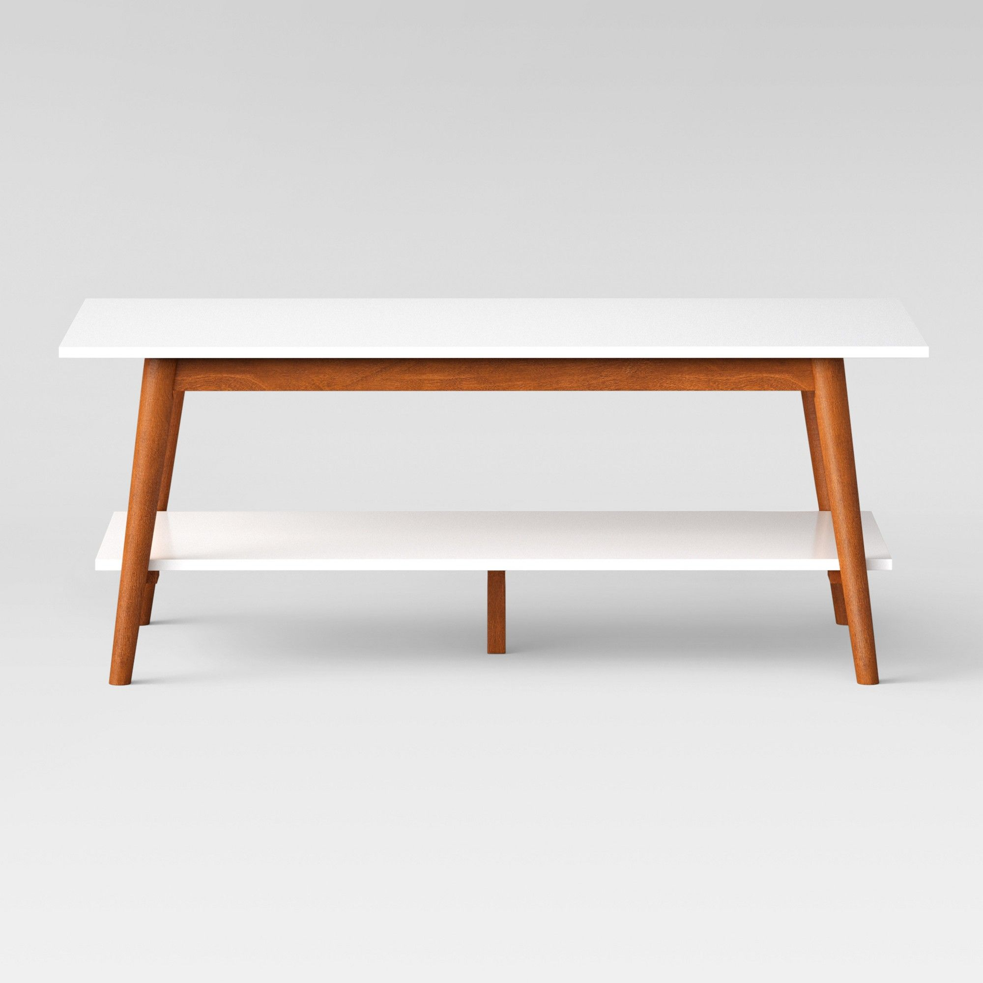 Amherst Mid Century Modern Two Tone Coffee Table White Brown Project Mid Century Modern Coffee Table Mid Century Modern Side Table White Coffee Table Modern [ 2000 x 2000 Pixel ]