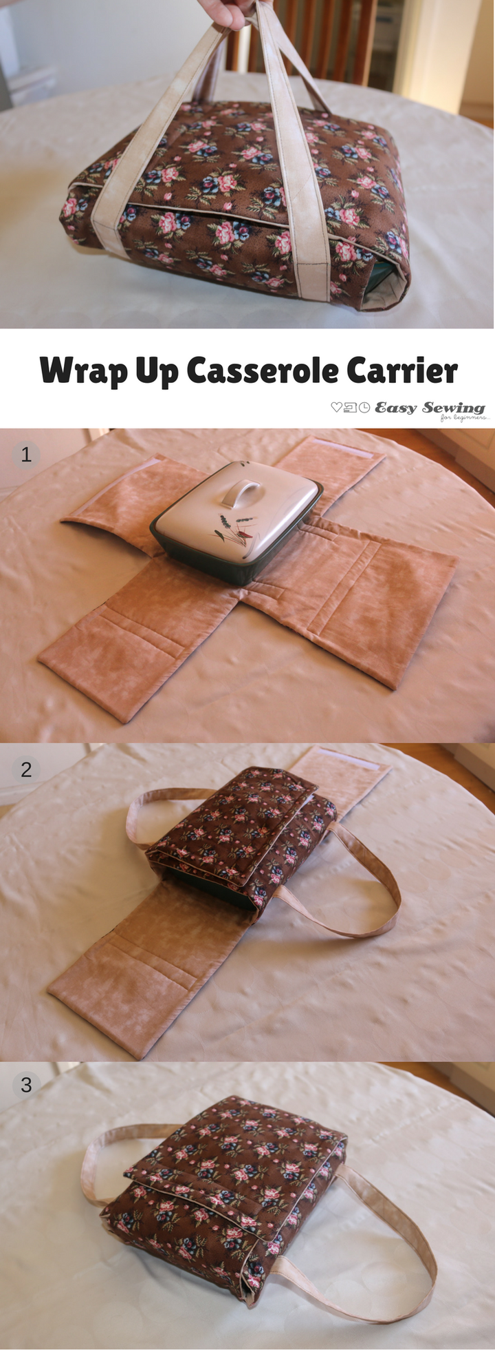 Wrap Up Casserole Cover - Easy Sewing For Beginners