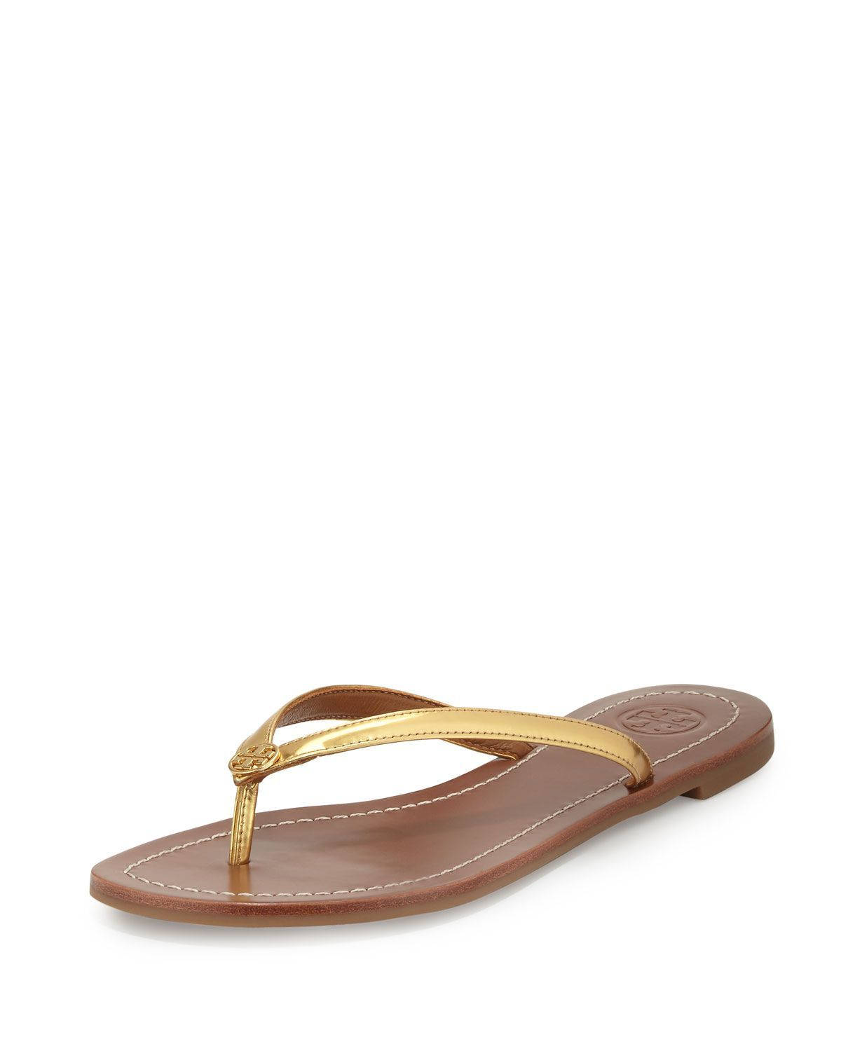 8db5f8d8946 Tory Burch Terra Metallic Thong Sandal