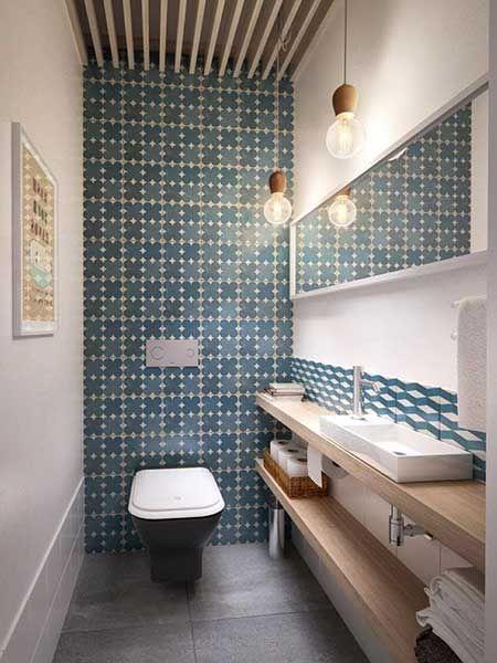Revestimento para Banheiro Simples, Moderno, Fotos salle de bain