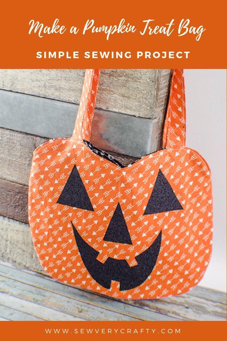 How to Make a Pumpkin Treat Bag Halloween sewing