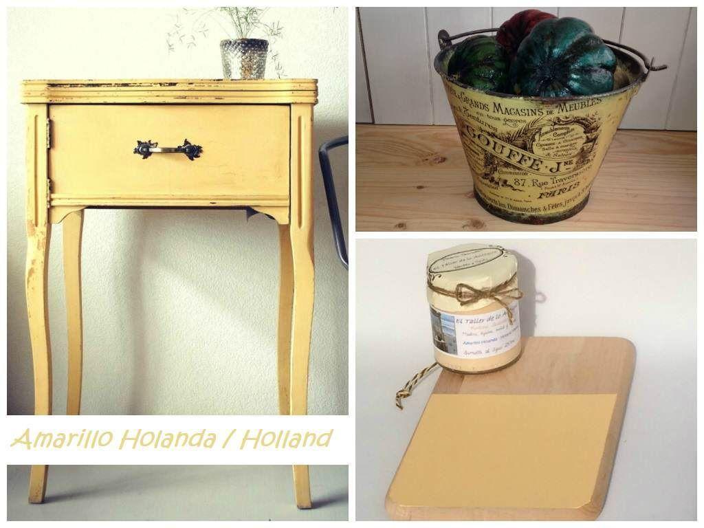 Pintar Muebles De Color Amarillo El Taller De Lo Antiguo  ~ Pintar Muebles De Melamina Sin Lijar