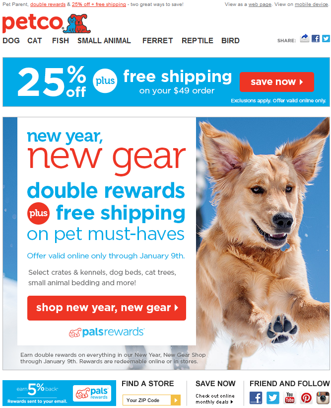 Petco New Year New Gear With 2x Rewards And Free Shipping 1 5