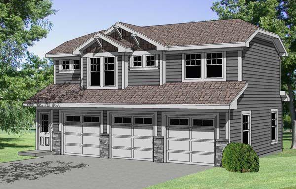 Garage Plan 94341 Plan With 723 Sq Ft 1 Bedrooms 1