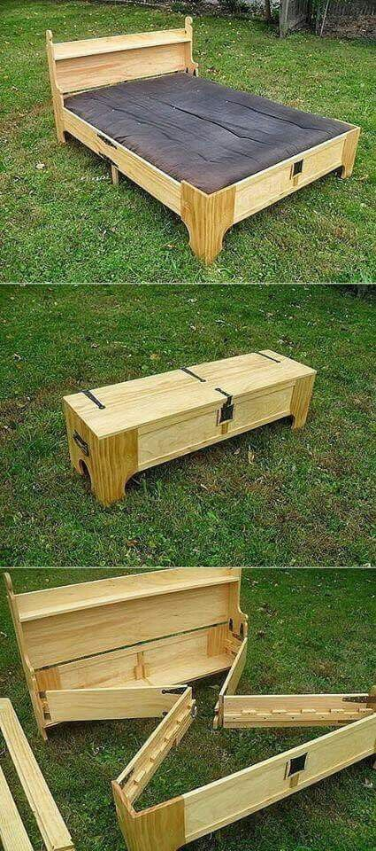 Cool Fold Up Bed To Build In 2019 Bett Paletten Ideen