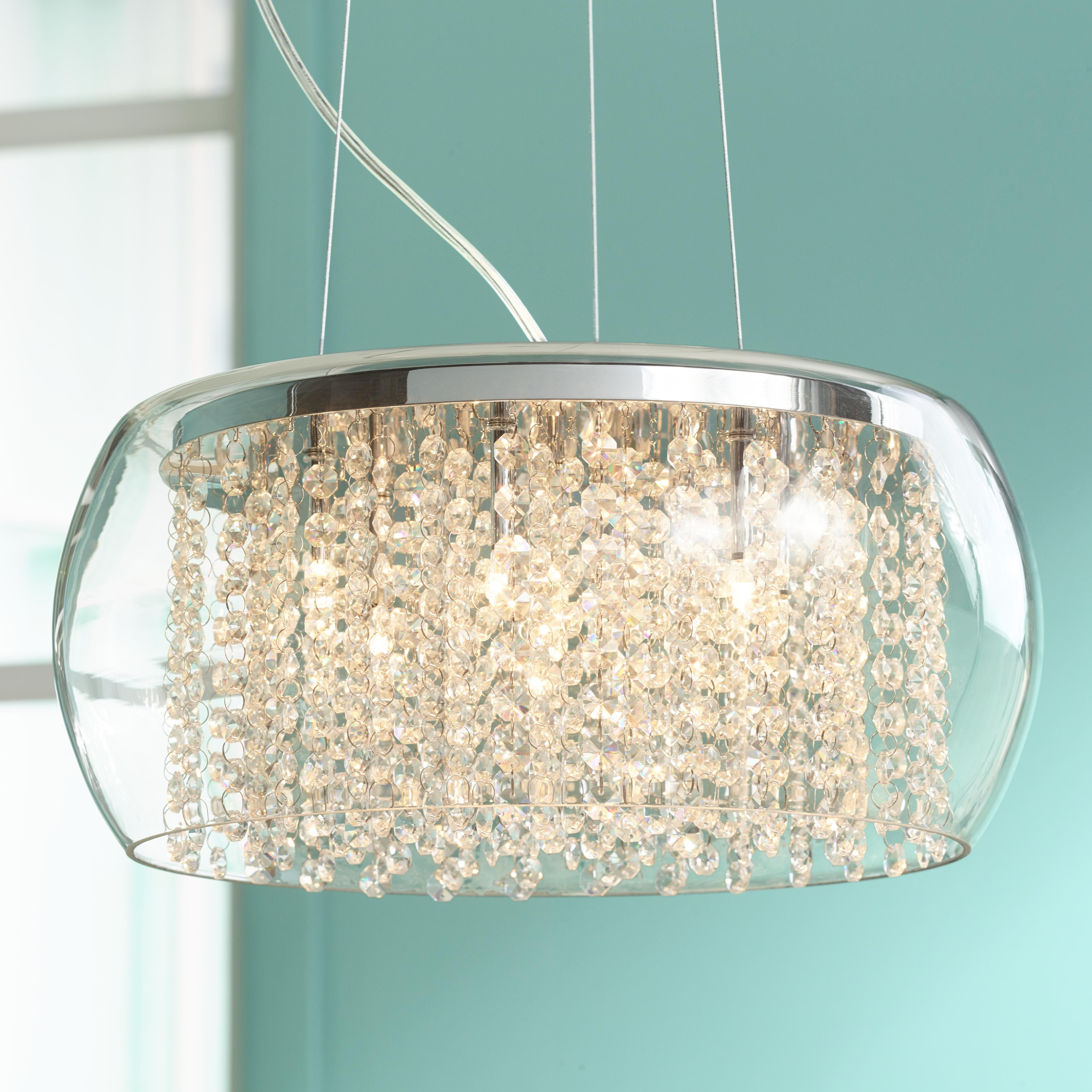 Possini euro crystal rainfall glass drum 17 wide chandelier possini euro crystal rainfall glass drum 17 wide chandelier arubaitofo Choice Image