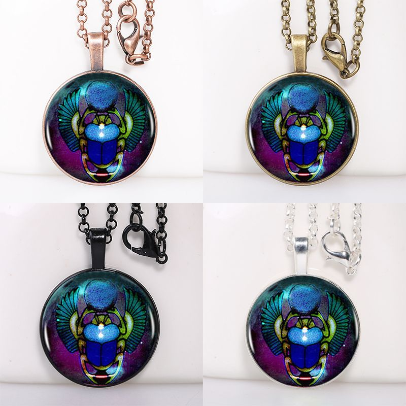 Find More Pendant Necklaces Information about Egyptian Scarab Glass Logo Round Pendant Women Choker Statement Necklace For Men Dress Accessories AB082668,High Quality necklace men,China necklace chinese Suppliers, Cheap necklace amethyst from DreamFire Store on Aliexpress.com